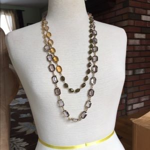 Jewelry - Long beaded asymmetrical necklace